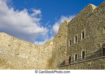 Ruins of an old castle in Europe - Ruins of an old castle in...
