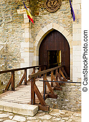 Main entrance in an old castle