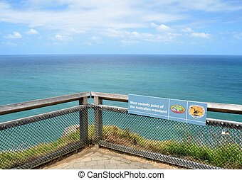 Most easterly point of the Australian mainland - View of the...