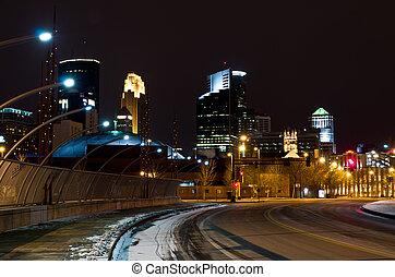 Minneapolis Minnesota from the Third Avenue South Bridge
