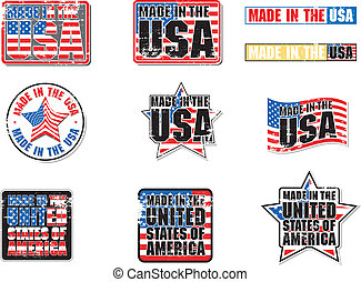 Made in USA vector Graphic - Made in the USA with grunge...