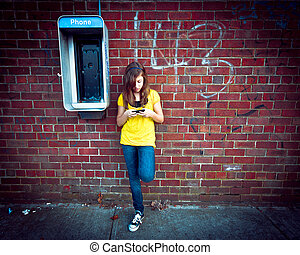 Girl and Phones
