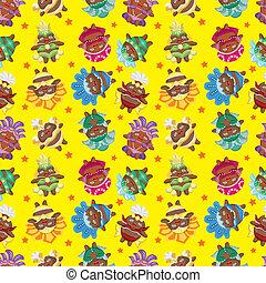carnival costume seamless pattern
