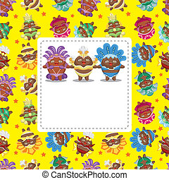 carnival costume card