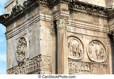 Arch of Constantine Arco Constantino - Roman empire ancient...
