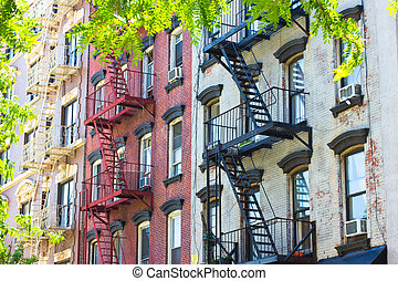 NYC Tenement Apartments - Typical Old Law NYC tenement...