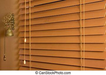 Wood Blinds - Closeup of wooden window blinds