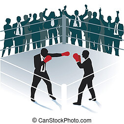 Business boxing match