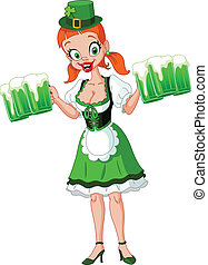 Saint Patrick girl - St Patricks day beer girl