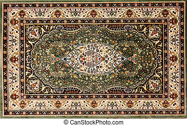 Arabic rug with floral pattern