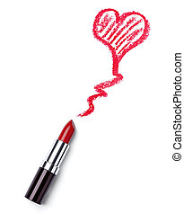 hear shape love lipstick