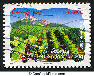 Bourgogne - FRANCE - CIRCA 2009: stamp printed by France,...