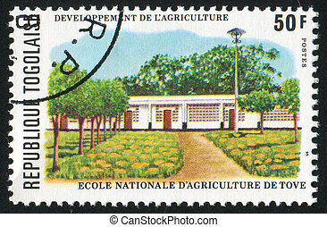 Agriculture School - TOGO - CIRCA 1977: stamp printed by...