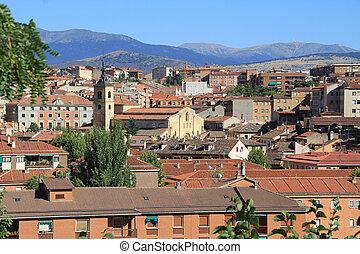 medieval streets of Segovia, Spain
