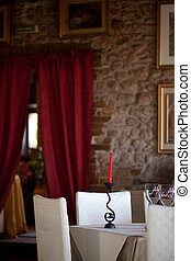 Dinning Room With Red Candle - Indoors - Photo of dinning...