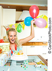 girl celebrating birthday