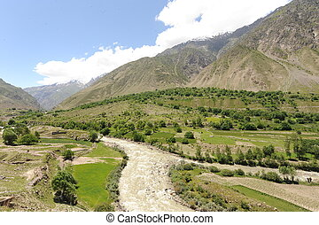 Valley in Afghanistan - V-Shaped valley in Afghanistan
