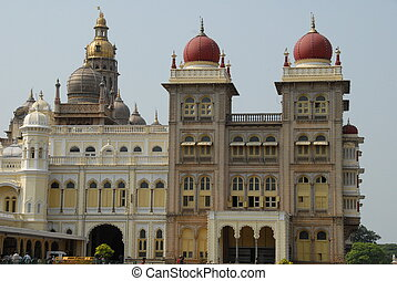 Mysore City Palace, India - Mysore city palace, former home...