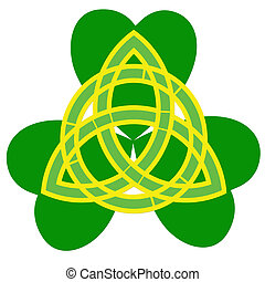 three leaf clover and trinity