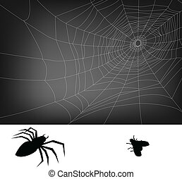 spider web illustration, for background.