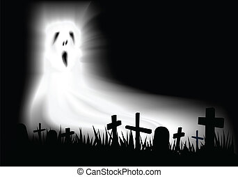 cemetery ghost background