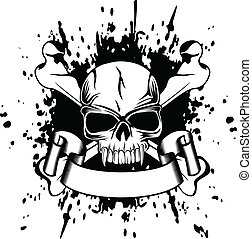 skull and crossed bones - Vector illustration skull and...