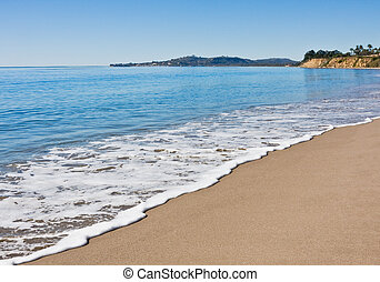 Santa Barbara Beach - Butterfly beach in Santa Barbara on a...