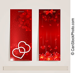 vertical vector festive banner - two vertical vector festive...