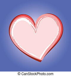Abstract heart symbol on blue background