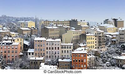 Lyon croix Rousse in winter