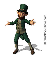 Friendly Leprechaun Welomes You - A friendly leprechaun...