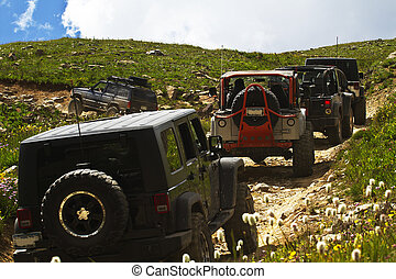 Four wheeling in Yankee Boy Basin_Colorado