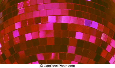 Disco Ball. Pink. - Disco ball coloured with a pink tint.
