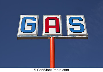 Vintage Gas Sign up Angle
