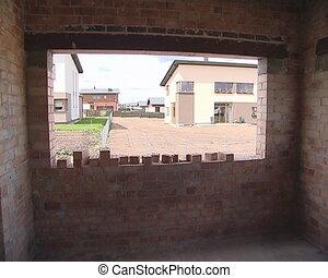 house window niche - View through windows niches of new...