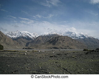 Snow-capped peaks of Afghan Pamir - Snow-capped peaks of the...
