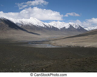 Pamir Knot in Wakhan corridor - View of the Pamir Knot in...