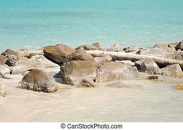 Rocky beach in Antigua, Caribbean