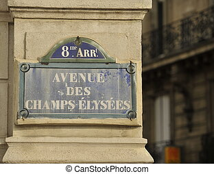 Champs Elysees sign - Avenue des Champs Elysees