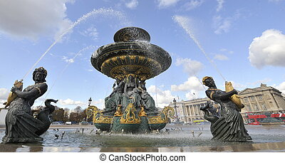 Water feature Place de la Concorde - Water feature at the...