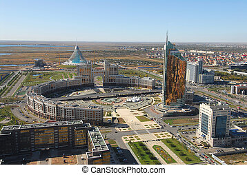 Construction work in Astana, Kazak - New construction work...