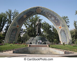 Monument to the poet Rudaki - National monument to the poet...