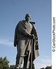 Statue of Tajikistan national poet - Bronze statue of...