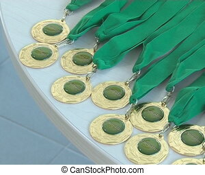 Eco rally medals - Eco rally medal prepared for winners. Eco...