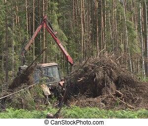 timber handling truck