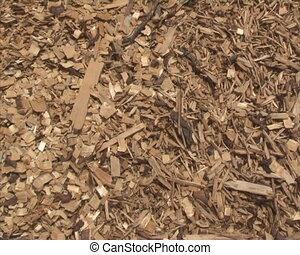 nature friendly fuel - Wood shavings, sawdust and blue sky....
