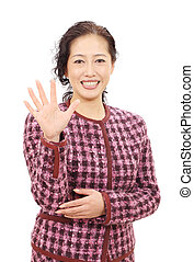 Asian business woman - Asian businesswoman smiling and...