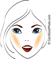 women face 3 - illustration in a ilustrador eps file