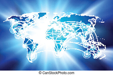 global network connection concept - Vector global network...