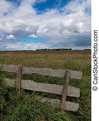 Fence in dutch agricultural protected area